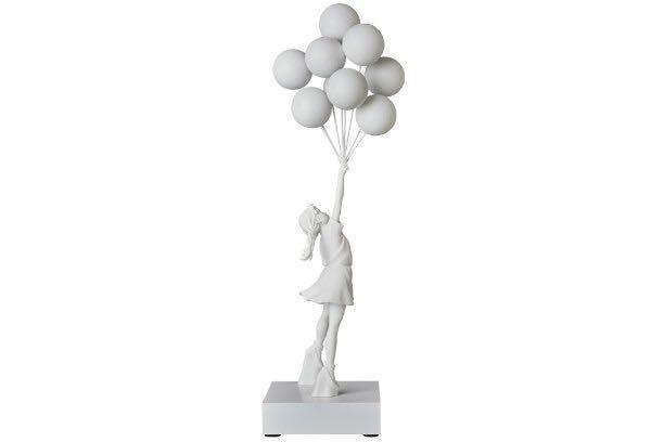 緊急出品 限定未開封 Flying Balloons Girl (White) MEDICOM TOY メディコムトイ プラス Banksy バンクシー 白 supreme kaws ベアブリック