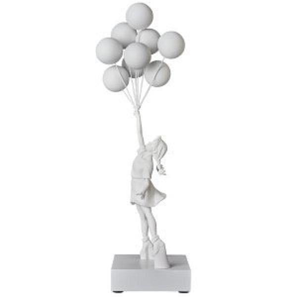 緊急出品 限定未開封 Flying Balloons Girl (White) MEDICOM TOY メディコムトイ プラス Banksy バンクシー 白 supreme kaws ベアブリック _画像3