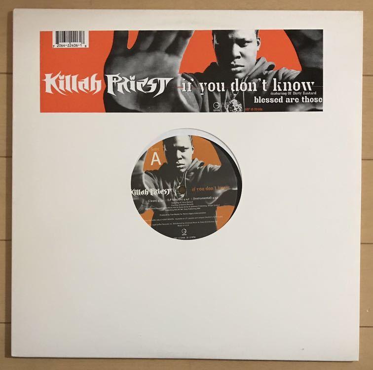 Killah Priest feat. Ol' Dirty Bastard / If You Don't Know / 美品_画像1