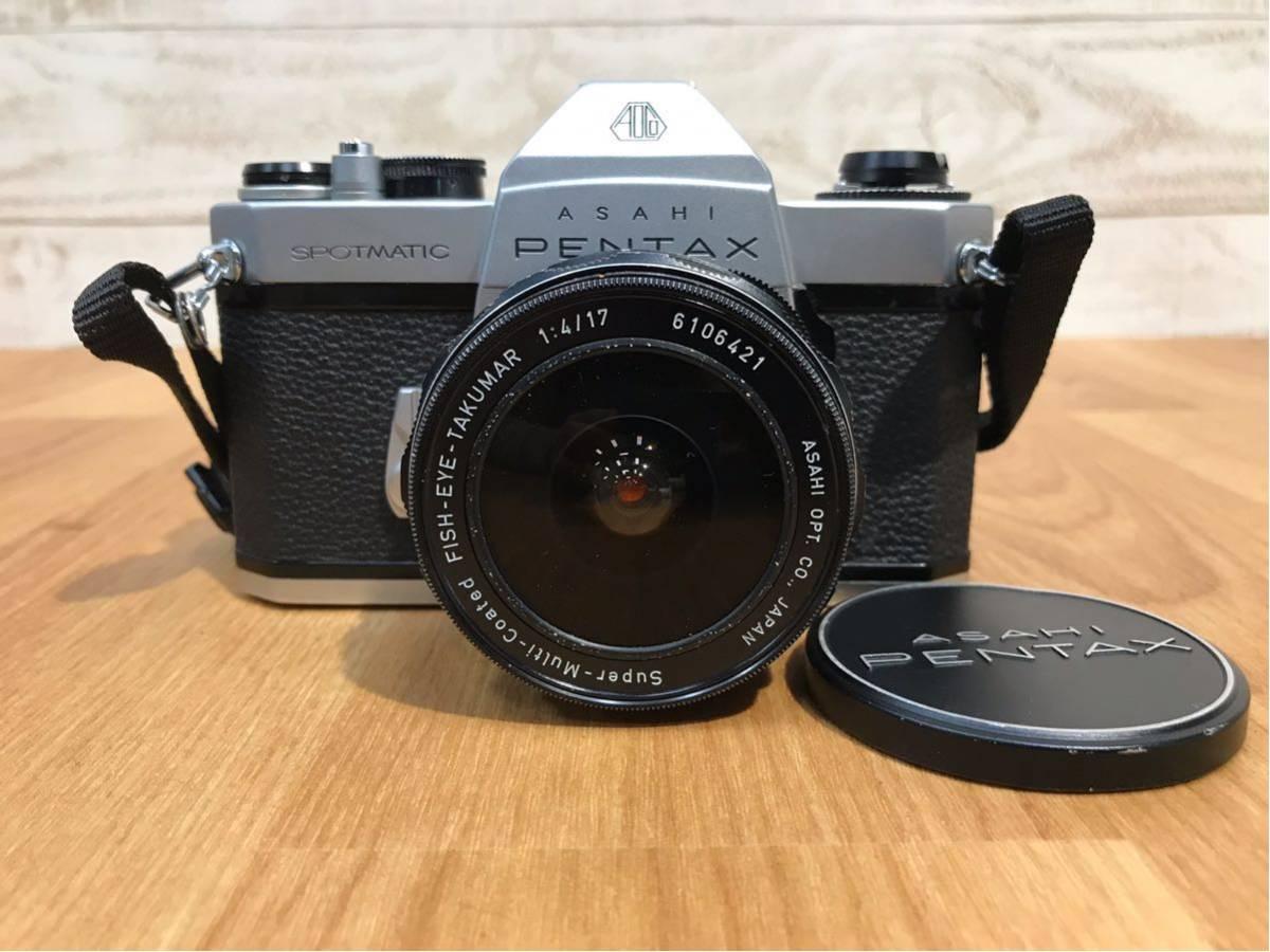ASAHI PENTAX SPOTMATIC カメラ ボディ レンズ FISH-EYE-TAKUMAR 1:4/17 中古品 動作未確認 ジャンク品
