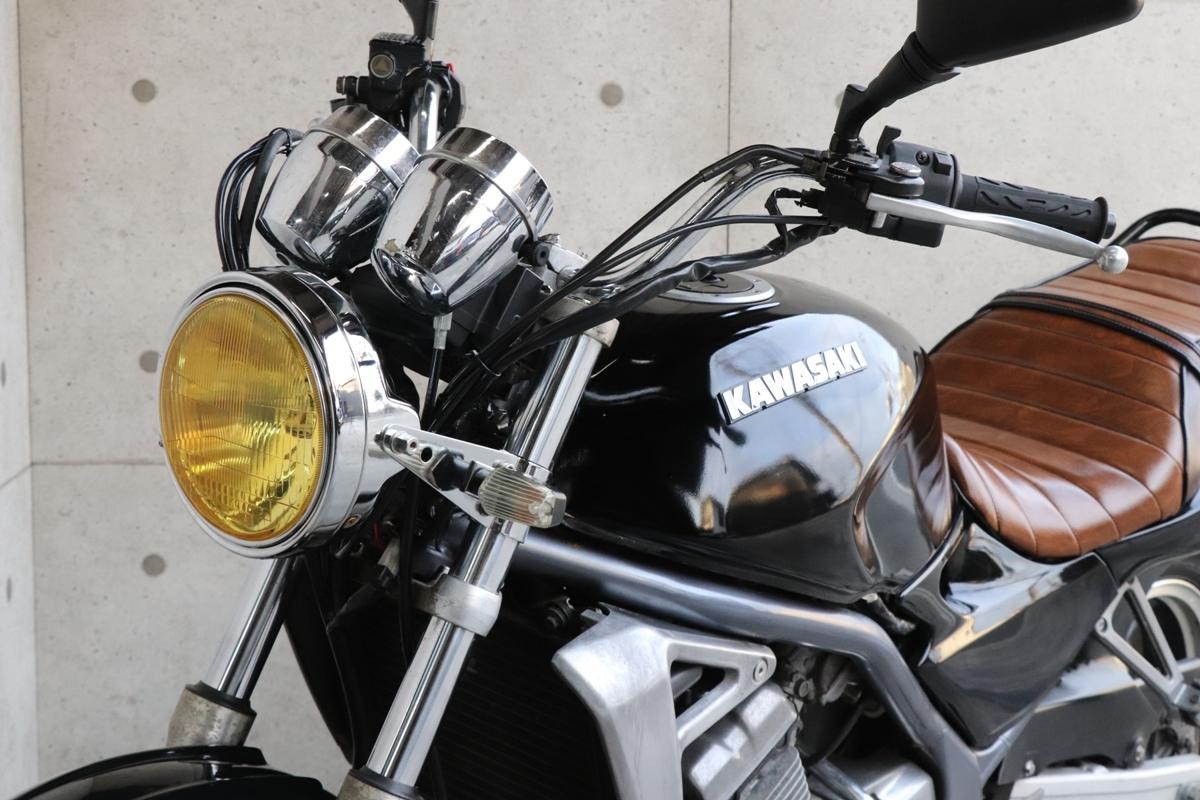 横浜~ Kawasaki バリオス 規制前 A1 ブラック カスタム 自賠責付き 好調_画像9