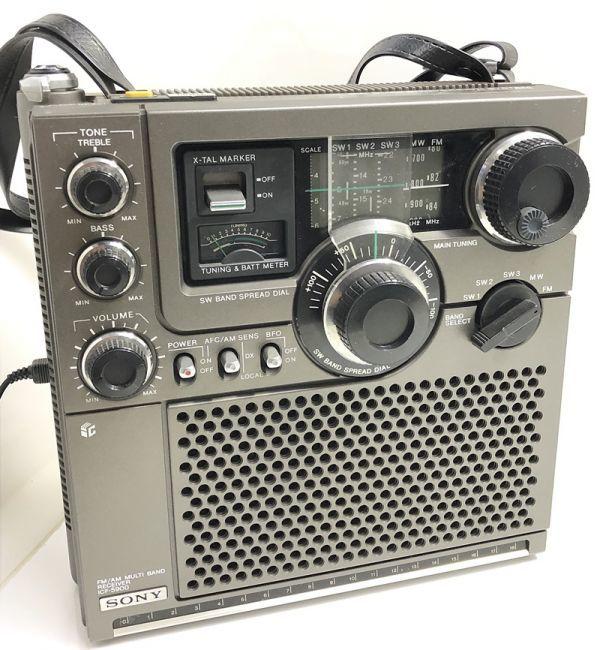 X1●SONY/スカイセンサー ICF-5900 5バンドマルチバンドレシーバー 前期型 ソニー 純正ACアダプター_画像2