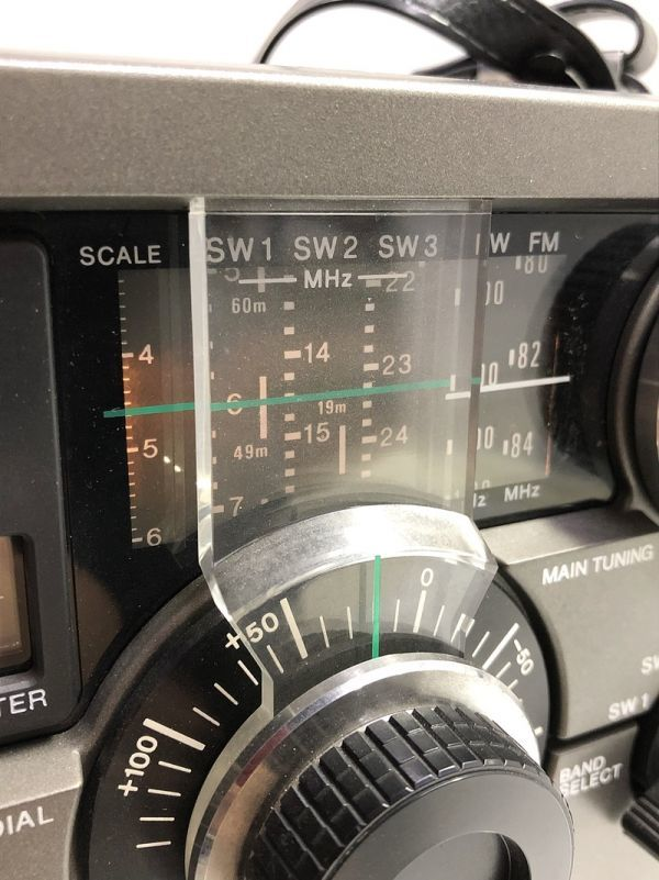 X1●SONY/スカイセンサー ICF-5900 5バンドマルチバンドレシーバー 前期型 ソニー 純正ACアダプター_画像3