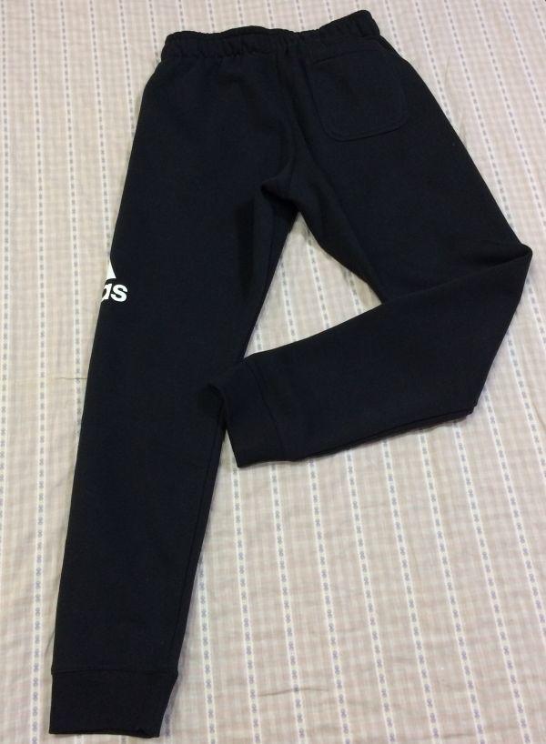 新品 大人気 アディダス Adidas スウェットパーカースウェットパンツ 上下セット 裏起毛 フード付き 黒 ブラック サイズO_画像6