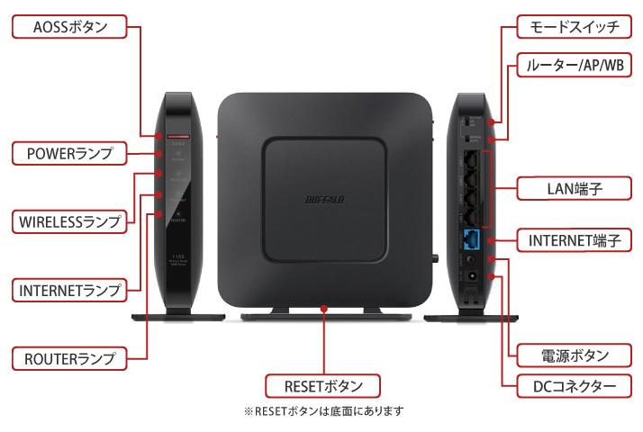 【メーカー保証有】BUFFALO WSR-1166DHP3-WH 無線LAN Wi-Fiルーター 866+300Mbps 11ac/n/a/g/b 検 WSR-1166DHP3/MWH WSR-1166DHP3/MBK_画像7