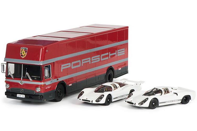シュコー 1/43 ポルシェ 70周年記念セット トランスポーター908K 908L バス SCHUCO O317 TRUCK CAR TRANSPORTER PORSCHE 1968