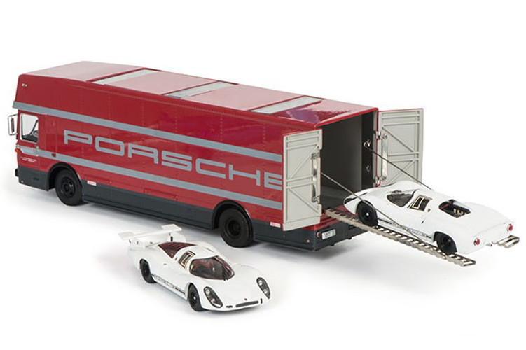 シュコー 1/43 ポルシェ 70周年記念セット トランスポーター908K 908L バス SCHUCO O317 TRUCK CAR TRANSPORTER PORSCHE 1968_画像2