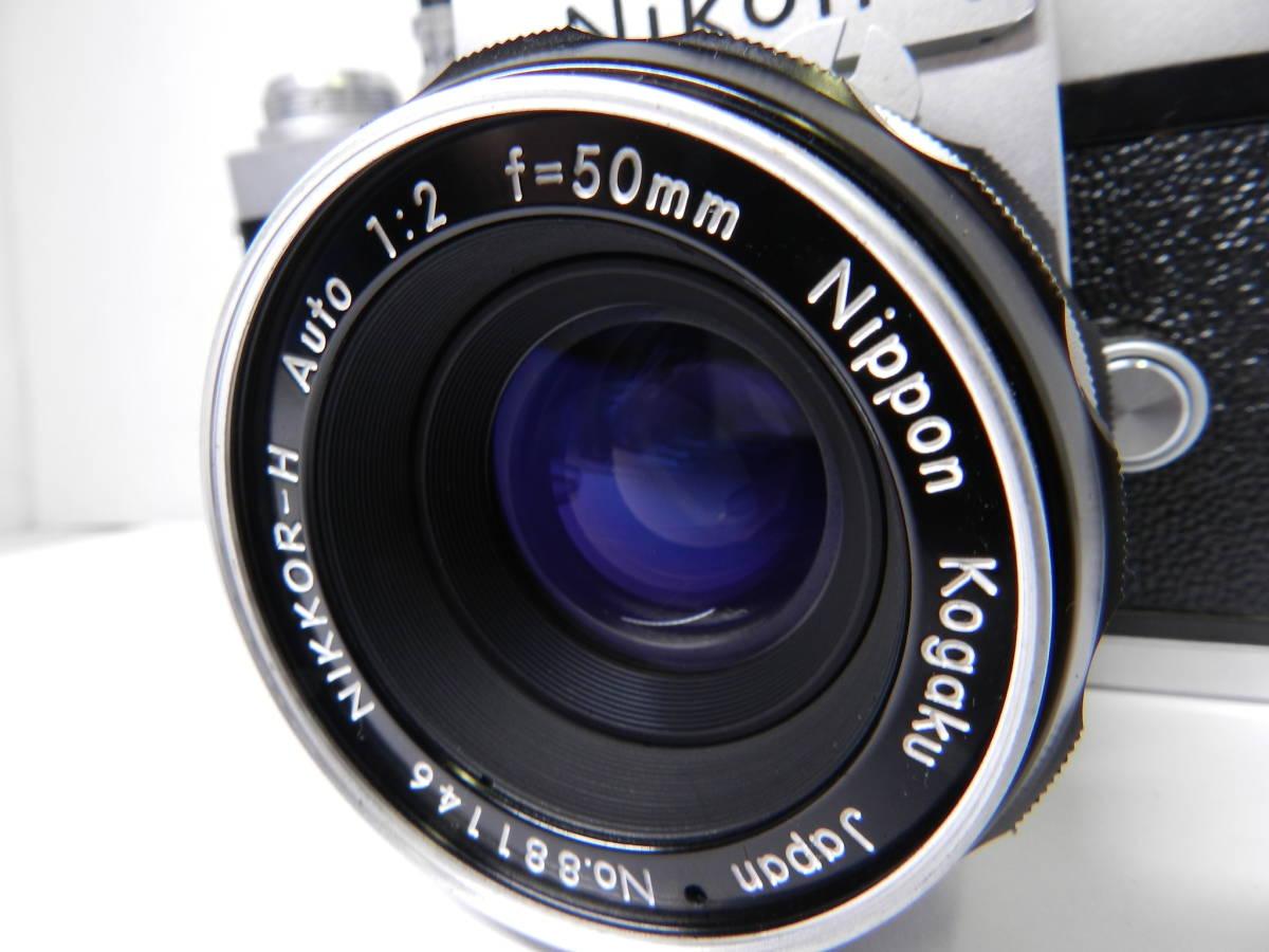 NIKON ニコン/一眼レフカメラ/初代 F アイレベル/レンズ NIKKOR-H Auto 50mm f2/MF 単焦点/動作品/フィルムカメラ/ケース 取説付属/管Y0133_画像6