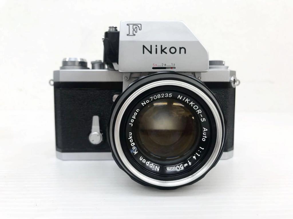 h011902☆ニコン F Nikon 2台セット ジャンク扱い F 6983484(レンズ有り) F 7280646(レンズ付き)_画像6