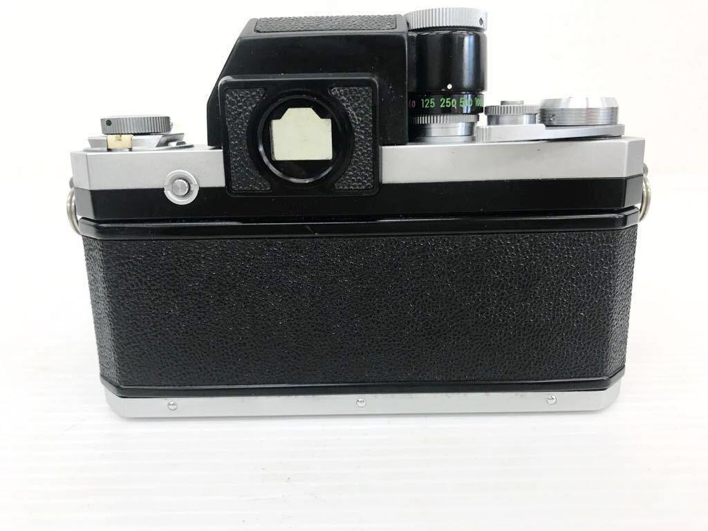 h011902☆ニコン F Nikon 2台セット ジャンク扱い F 6983484(レンズ有り) F 7280646(レンズ付き)_画像3