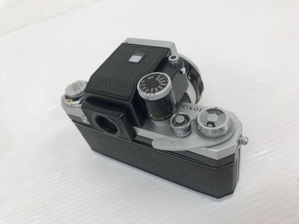 h011902☆ニコン F Nikon 2台セット ジャンク扱い F 6983484(レンズ有り) F 7280646(レンズ付き)_画像9
