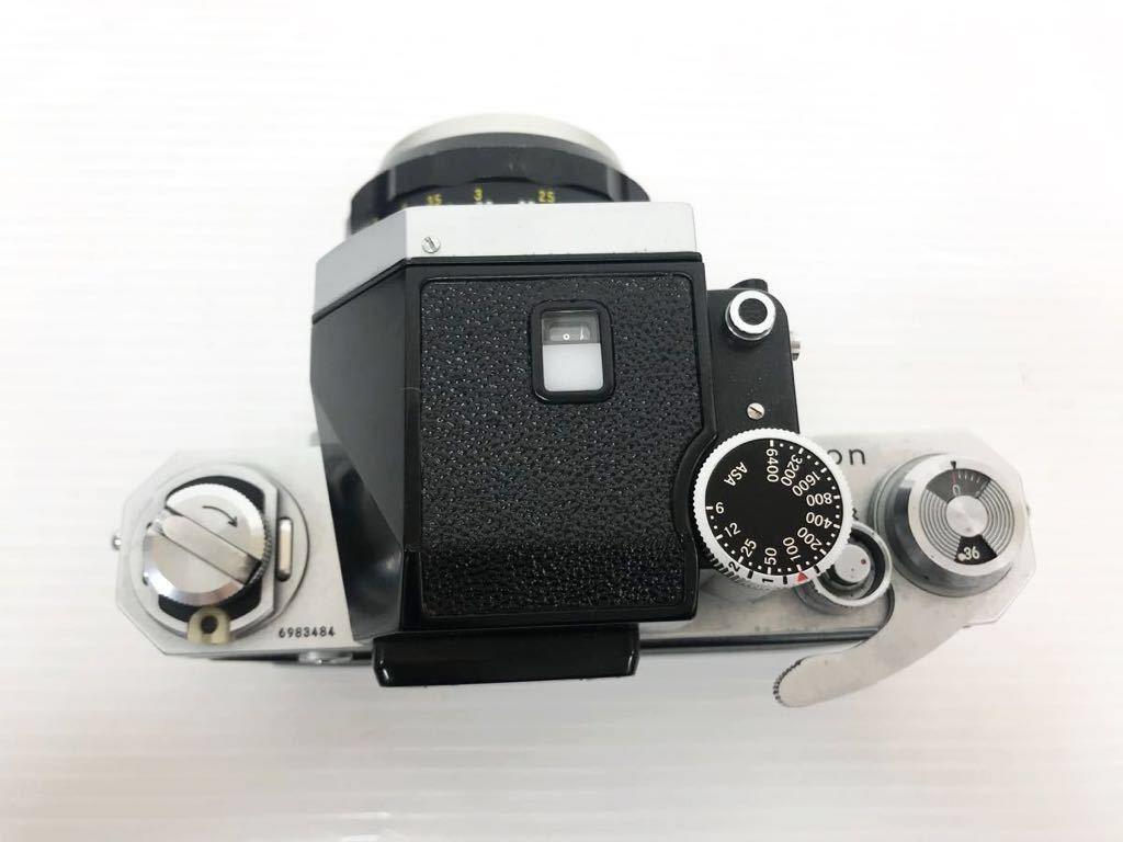 h011902☆ニコン F Nikon 2台セット ジャンク扱い F 6983484(レンズ有り) F 7280646(レンズ付き)_画像7