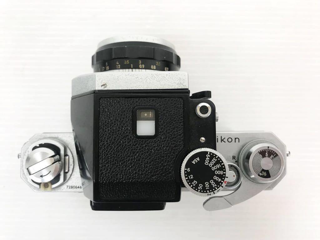h011902☆ニコン F Nikon 2台セット ジャンク扱い F 6983484(レンズ有り) F 7280646(レンズ付き)_画像4