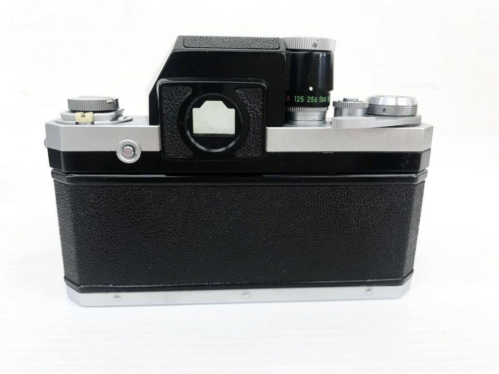 h011902☆ニコン F Nikon 2台セット ジャンク扱い F 6983484(レンズ有り) F 7280646(レンズ付き)_画像8