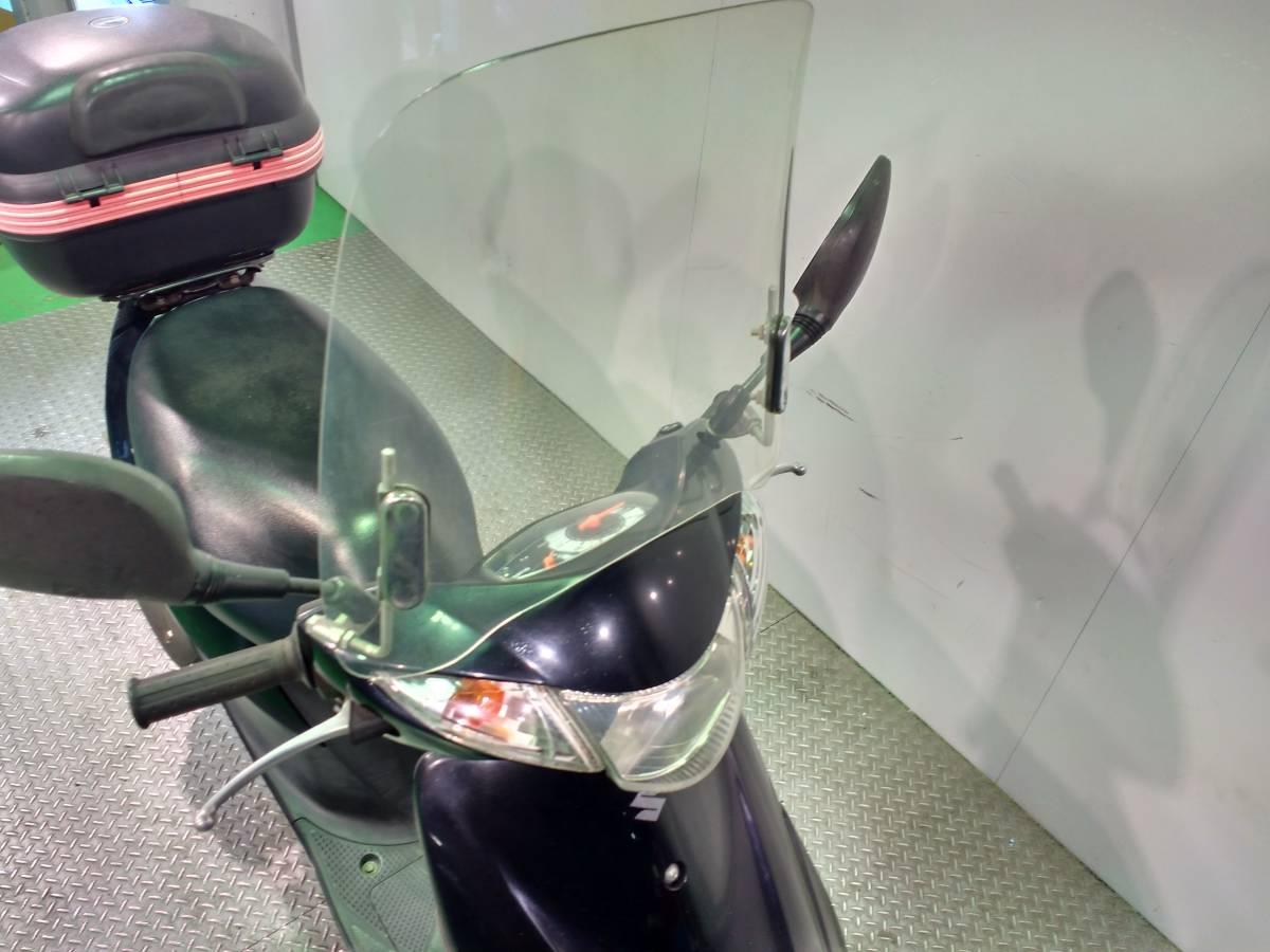 アドレスV50 スズキ SUZUKI 50cc 原付スクーター フロントスクリーン リアボックス付き 高年式 _画像2