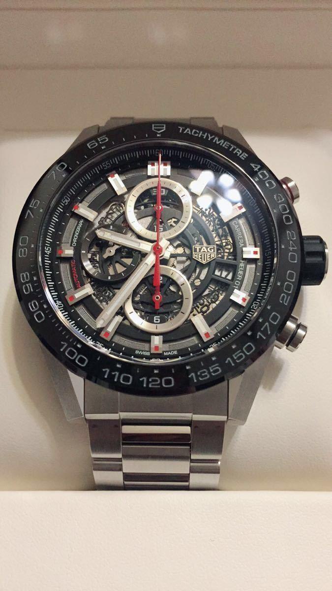 ◆NO. 5251 お値下げしました!【全国送料無料】TAG HEUER タグホイヤー カレラ クロノ CAR2A1W-0 スケルトン 自動巻 メンズ 腕時計_画像2