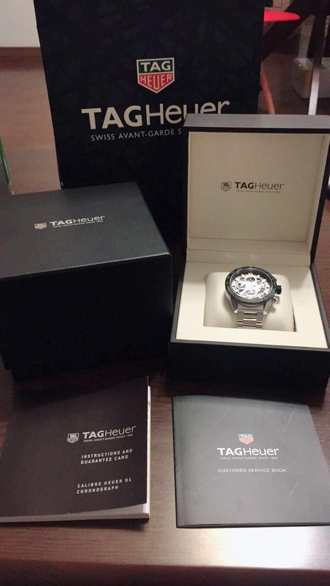 ◆NO. 5251 お値下げしました!【全国送料無料】TAG HEUER タグホイヤー カレラ クロノ CAR2A1W-0 スケルトン 自動巻 メンズ 腕時計_画像6