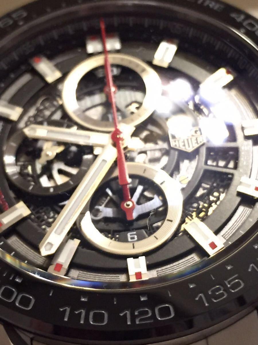 ◆NO. 5251 お値下げしました!【全国送料無料】TAG HEUER タグホイヤー カレラ クロノ CAR2A1W-0 スケルトン 自動巻 メンズ 腕時計_画像5