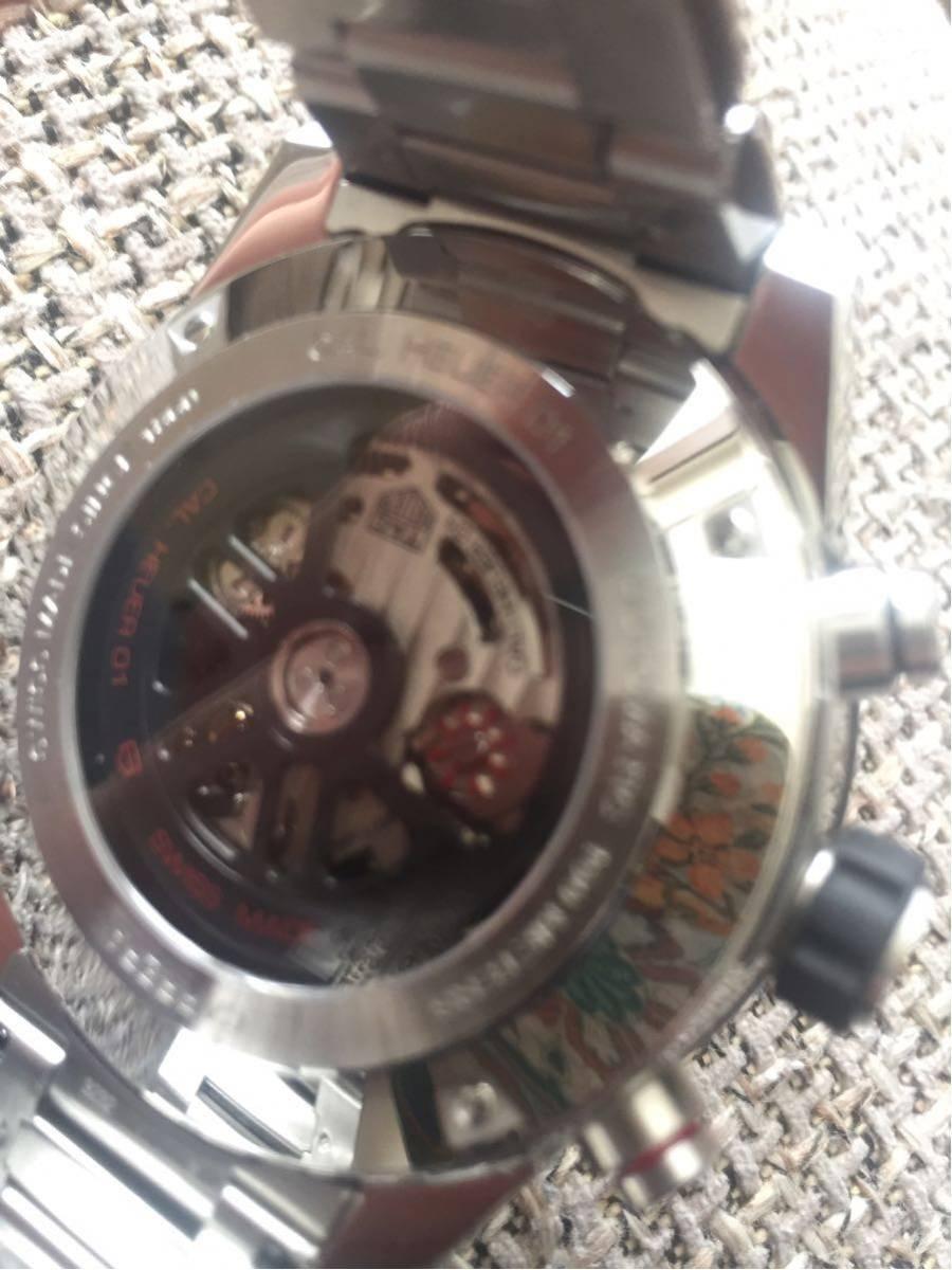 ◆NO. 5251 お値下げしました!【全国送料無料】TAG HEUER タグホイヤー カレラ クロノ CAR2A1W-0 スケルトン 自動巻 メンズ 腕時計_画像8