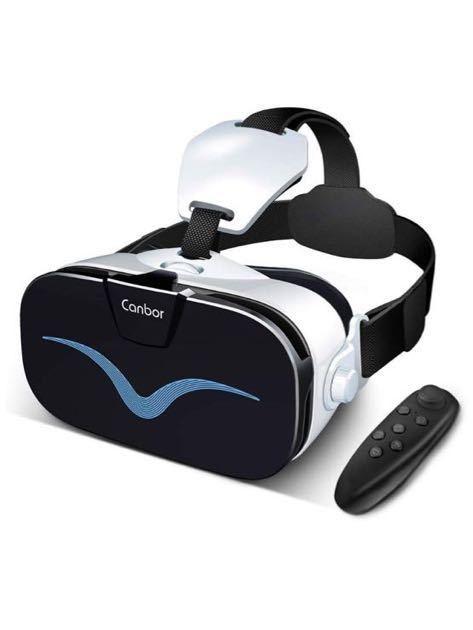 【新品 最新作】VRゴーグル VRヘッドセット3D VRメガネ 4.0-6.3インチのiPhone androidなどのスマホ対応 Bluetoothコントローラ付き