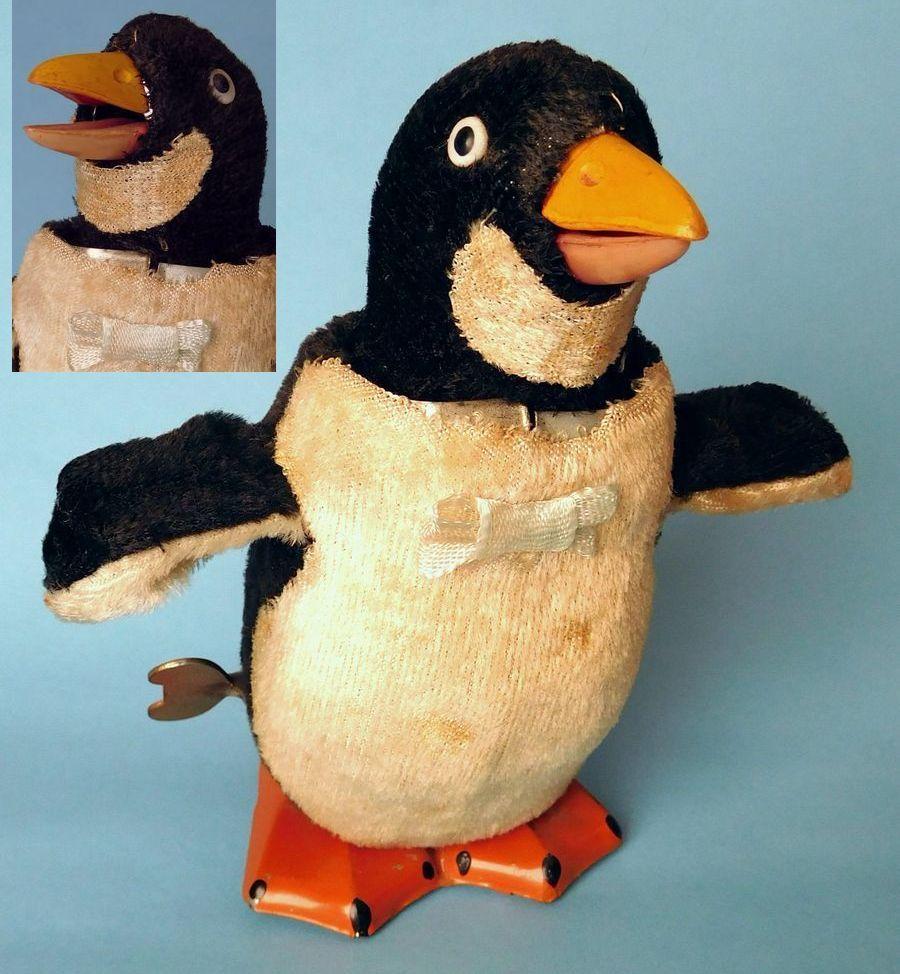 送料込 動画 オキュパイドジャパン ネジ巻 ブリキ MT ヨチヨチ歩きのペンギン