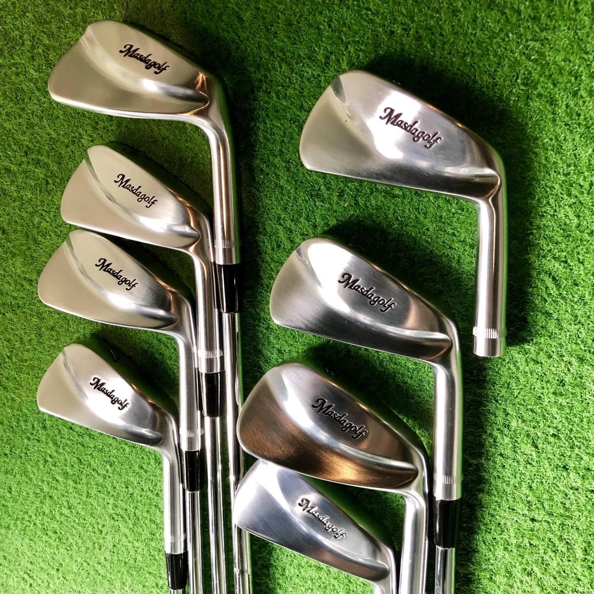 新品同様 特注 Masda golf マスダゴルフ マッスルプロト 3番~PW 8本 未使用 送料無料 生産終了品