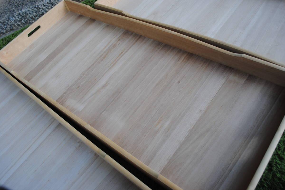 X556【大切な和装等の収納に*桐箱 衣装ケース*3点】着物◆和服◆天然木◆保管箱◆衣類収納◆多目的収納◆約45x120x7cm◆3枚セット◆美品_画像6