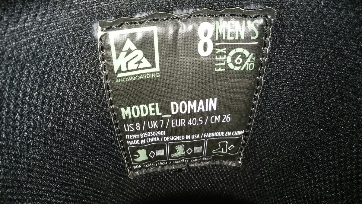 K2 DOMAIN GREE/VERT 26.0cm 中古_画像3