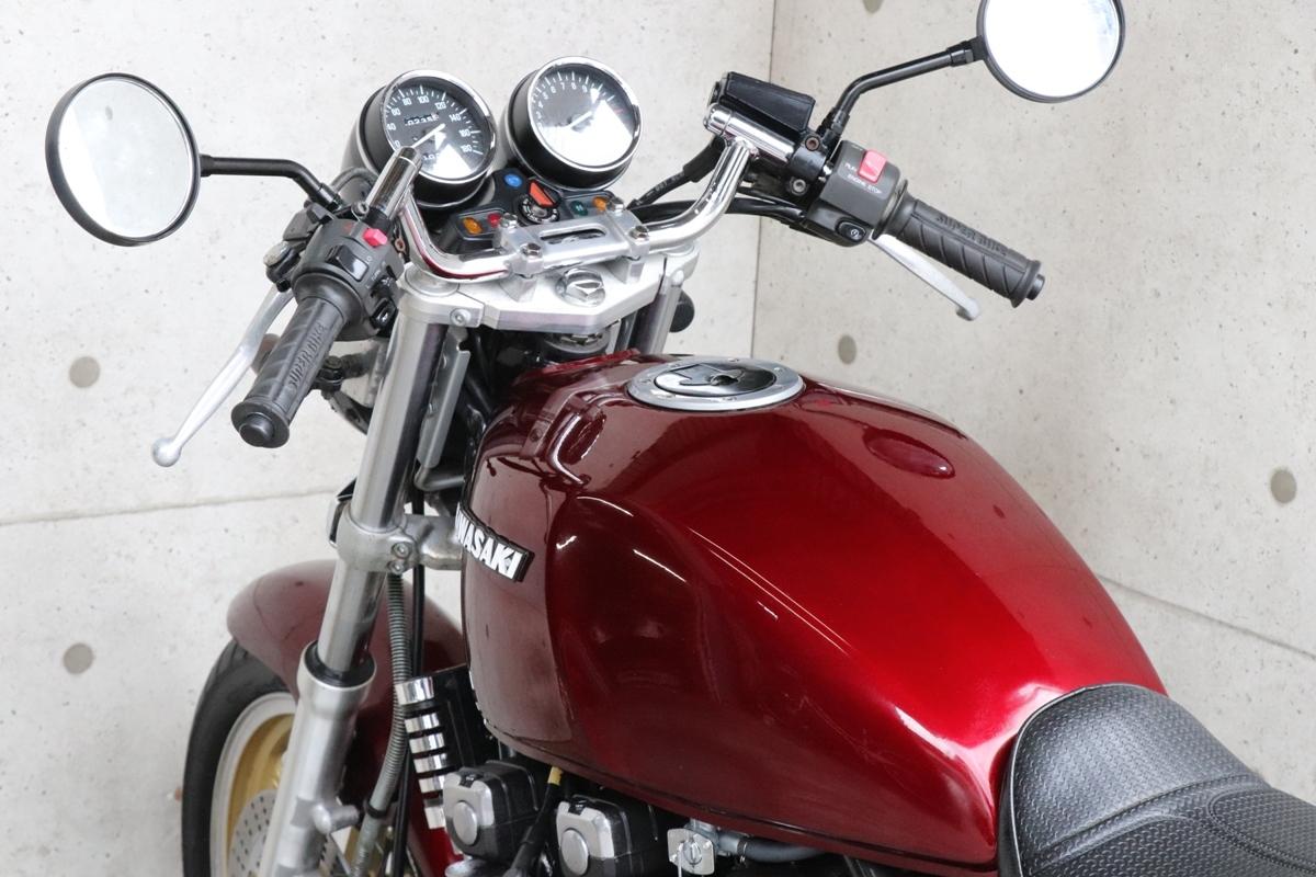 横浜~ Kawasaki ゼファー400 C6 旧車 ルミナスビンテージレッド 10235キロ 綺麗 好調_画像7