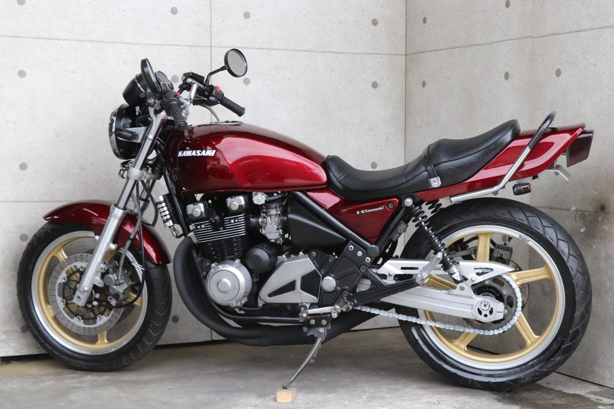 横浜~ Kawasaki ゼファー400 C6 旧車 ルミナスビンテージレッド 10235キロ 綺麗 好調_画像2