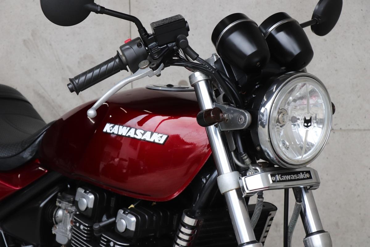 横浜~ Kawasaki ゼファー400 C6 旧車 ルミナスビンテージレッド 10235キロ 綺麗 好調_画像4