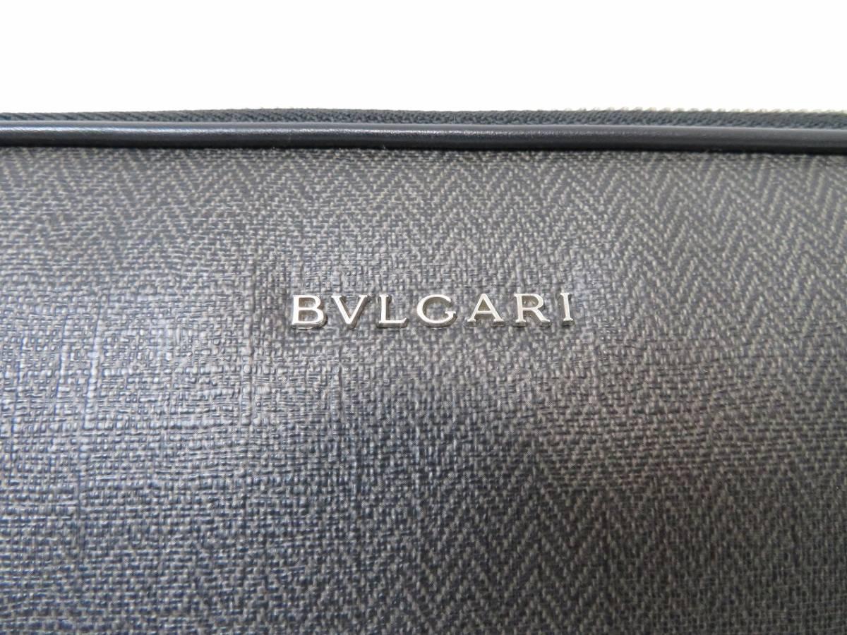 【極美品】ブルガリ ウィークエンド クッション入り ドキュメントケース PCケース ビジネスバッグ BVLGARI_画像4