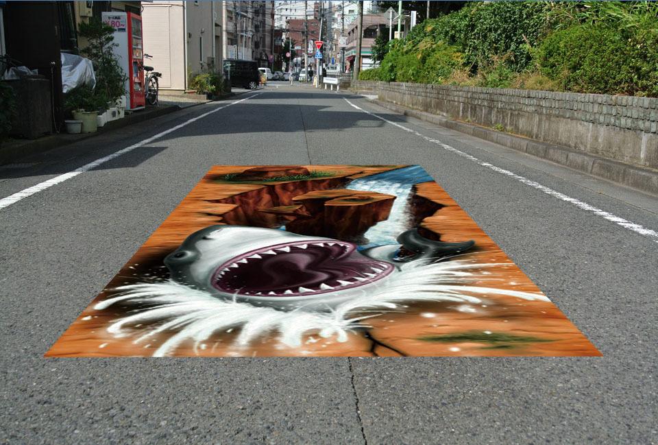 床に敷くだけ簡単設置 3Dストリートアート_画像2