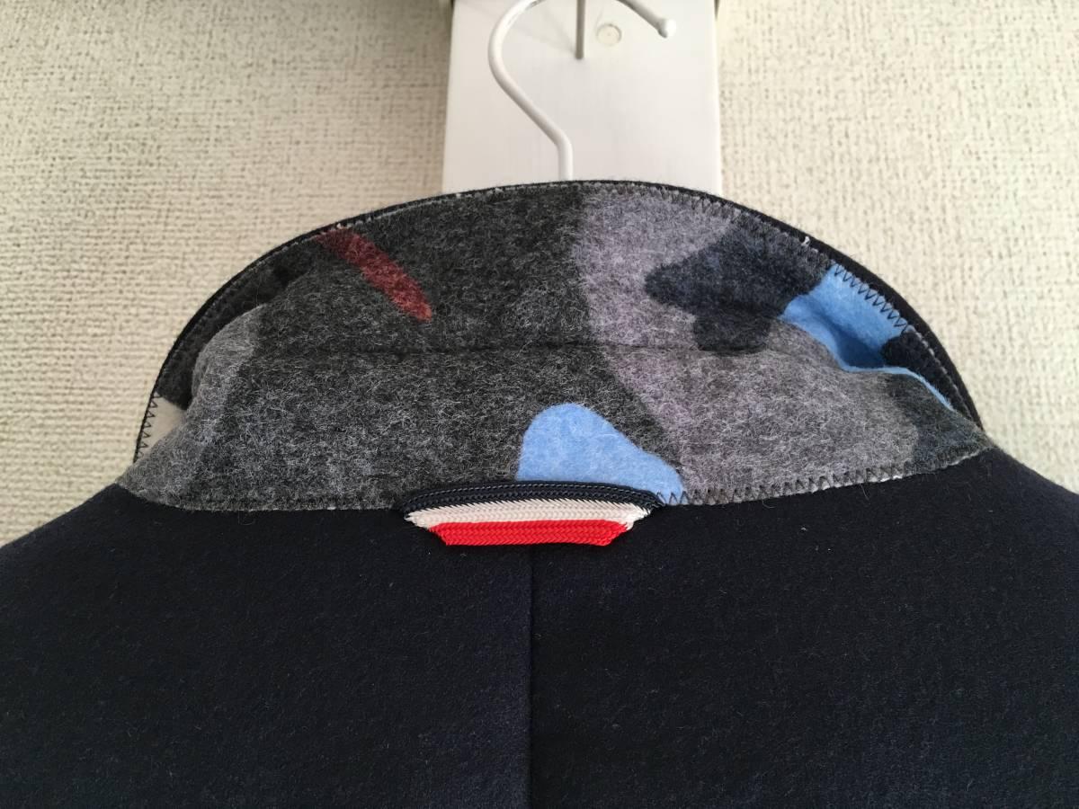 新品 本物 モンクレール ガムブルー ウール 100% ダウン ジャケット 4 MONCLER GAMME BLEU ネイビー ゴールド 金ボタン 迷彩 コート_画像5