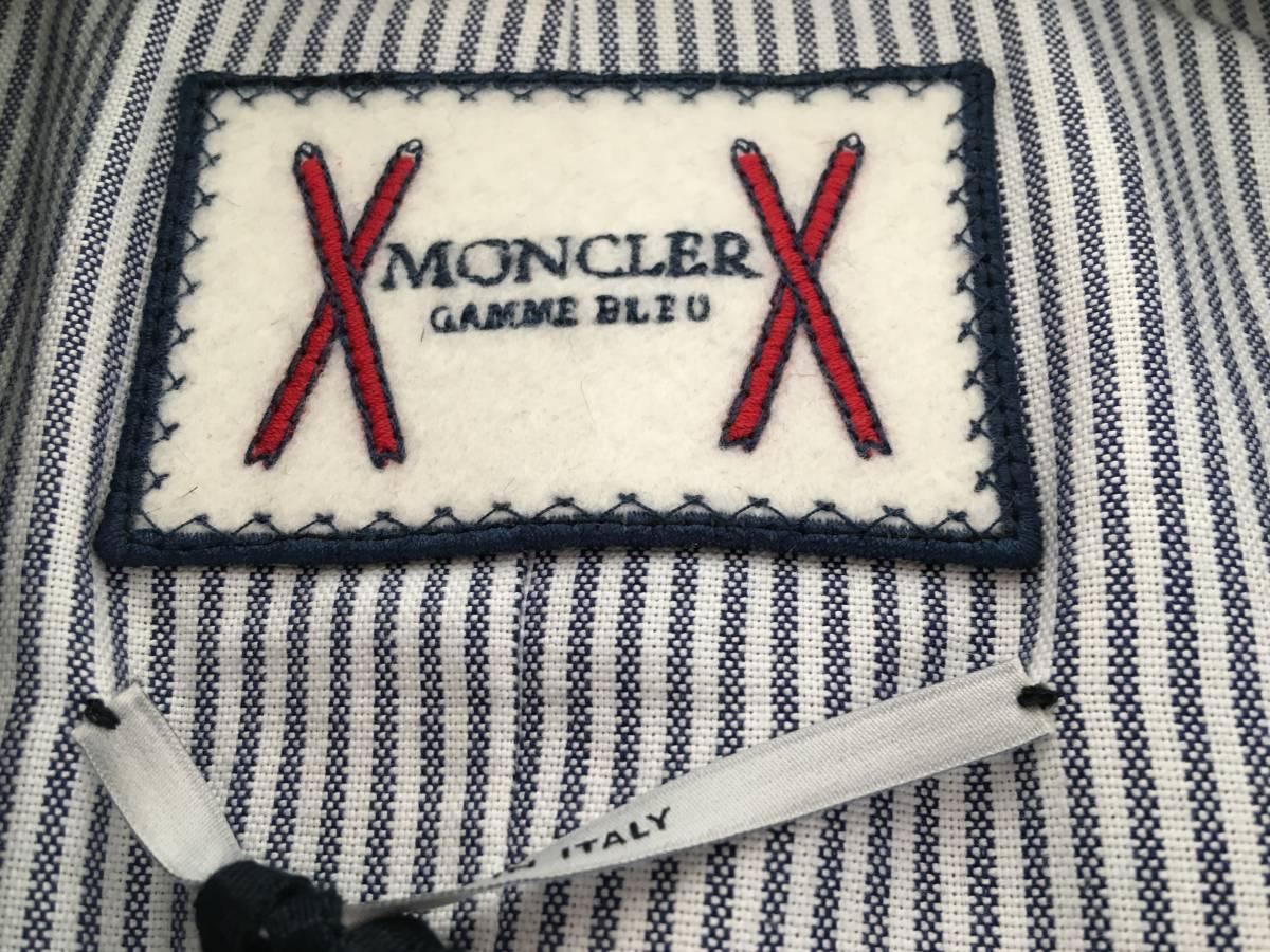 新品 本物 レシート有 モンクレール ガムブルー ウール 100% ダウン ジャケット 0 MONCLER GAMME BLEU ネイビー ゴールド 金ボタン コート_画像8