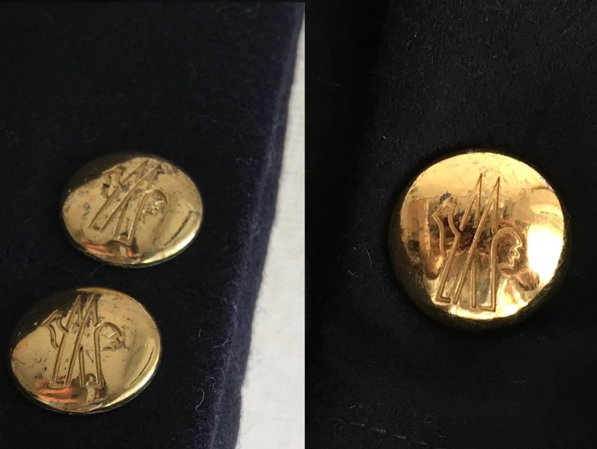 新品 本物 レシート有 モンクレール ガムブルー ウール 100% ダウン ジャケット 0 MONCLER GAMME BLEU ネイビー ゴールド 金ボタン コート_画像7