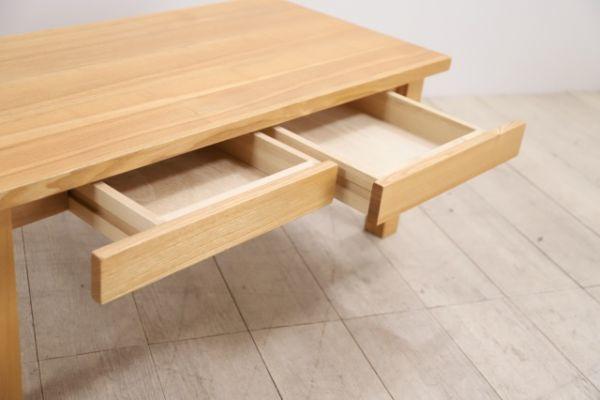 無印良品 タモ材 引き出し付き ローテーブル リビングテーブル センターテーブル アッシ