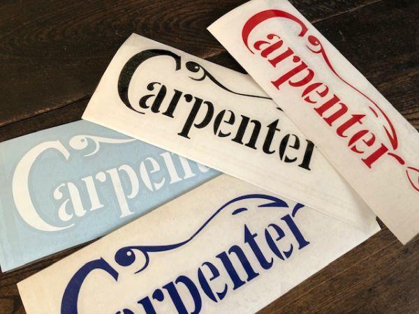 Carpenter カーペンター 190mm x 68mm カッティングステッカー_在庫が有れば他のカラーも対応可能です。