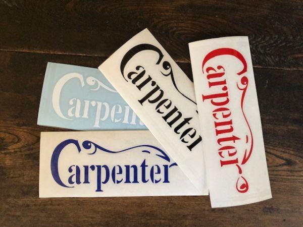 Carpenter カーペンター 190mm x 68mm カッティングステッカー_画像2