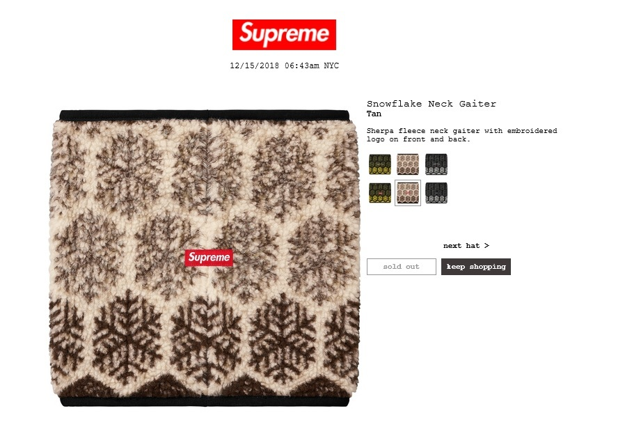 ALL COLORS *New* Supreme New York Fleece Neck Gaiter//Neck Warmer//PullOverNose