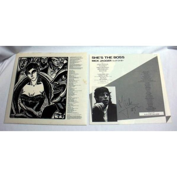 LP「ミック・ジャガー/She's the Boss」1985年ソロアルバム ローリング・ストーンズ 再生良好