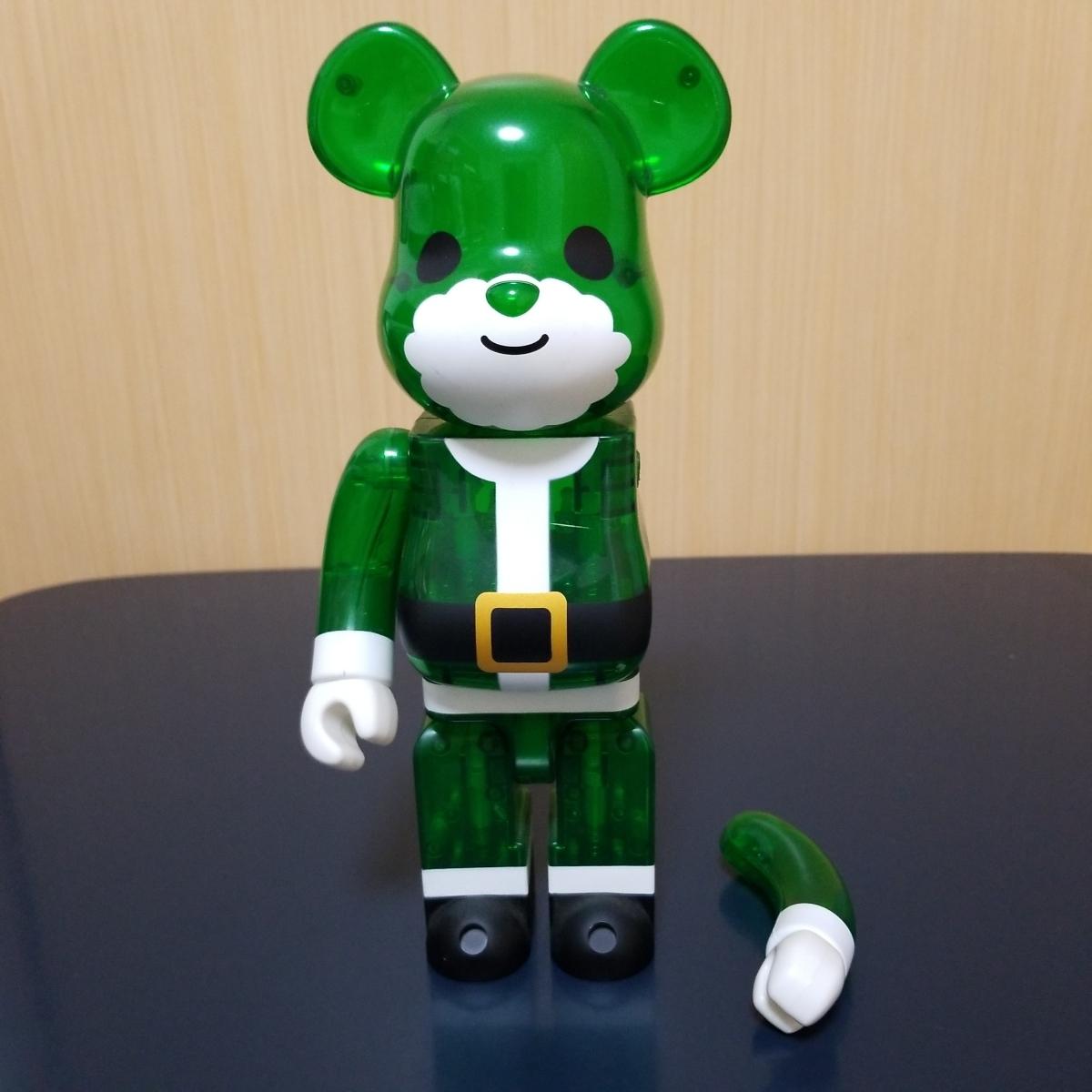 難有り BE@RBRICK GREEN SANTA 400% ベアブリック Merry Green Christmas charity campaign グリーン サンタ メディコムトイ