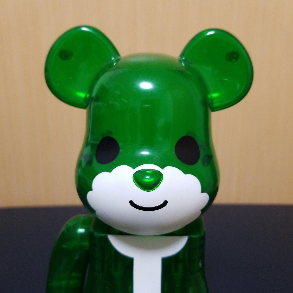 難有り BE@RBRICK GREEN SANTA 400% ベアブリック Merry Green Christmas charity campaign グリーン サンタ メディコムトイ_画像2