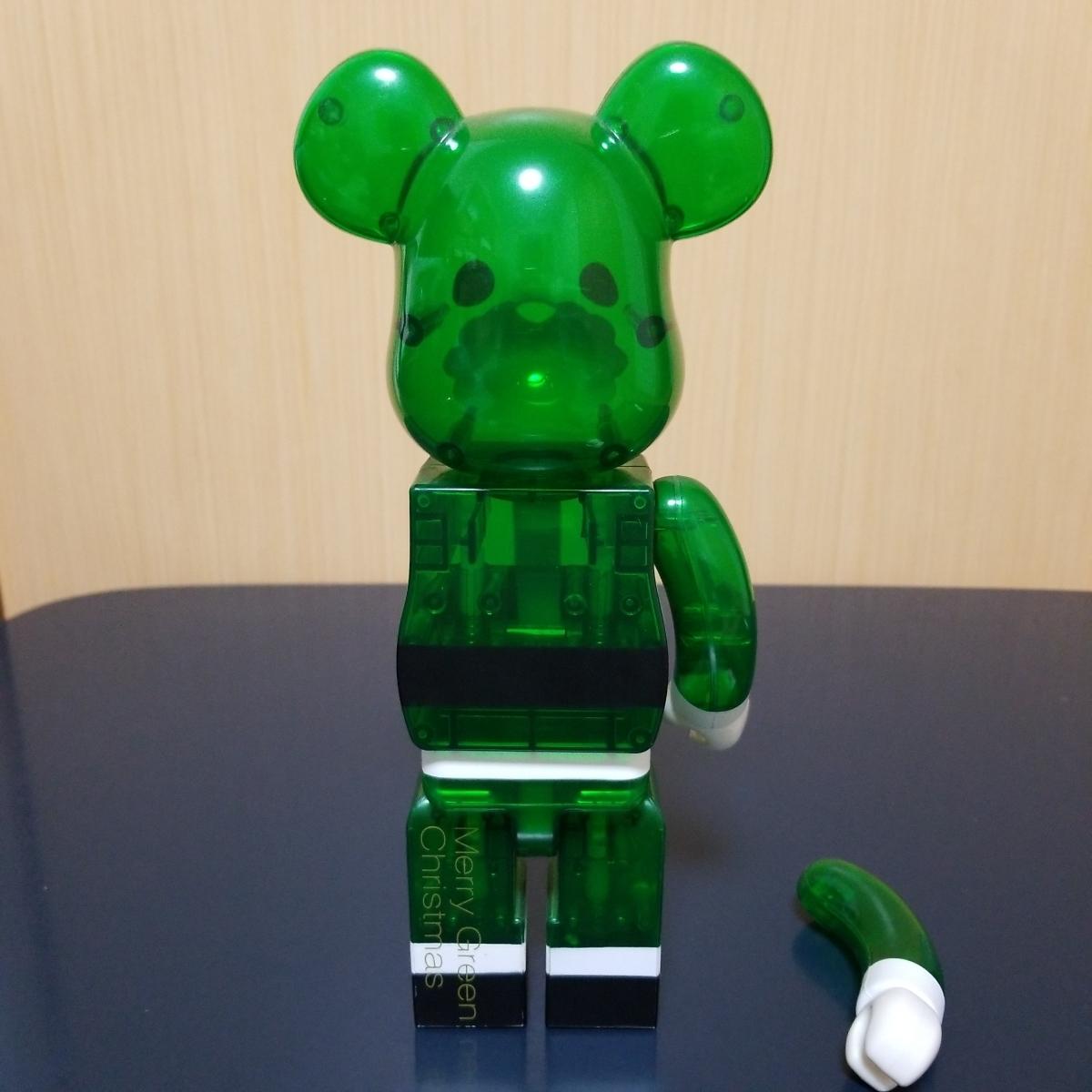難有り BE@RBRICK GREEN SANTA 400% ベアブリック Merry Green Christmas charity campaign グリーン サンタ メディコムトイ_画像4