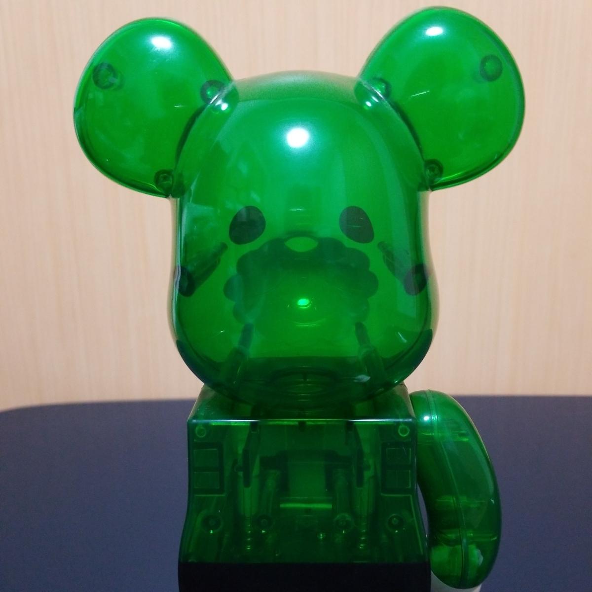 難有り BE@RBRICK GREEN SANTA 400% ベアブリック Merry Green Christmas charity campaign グリーン サンタ メディコムトイ_画像5