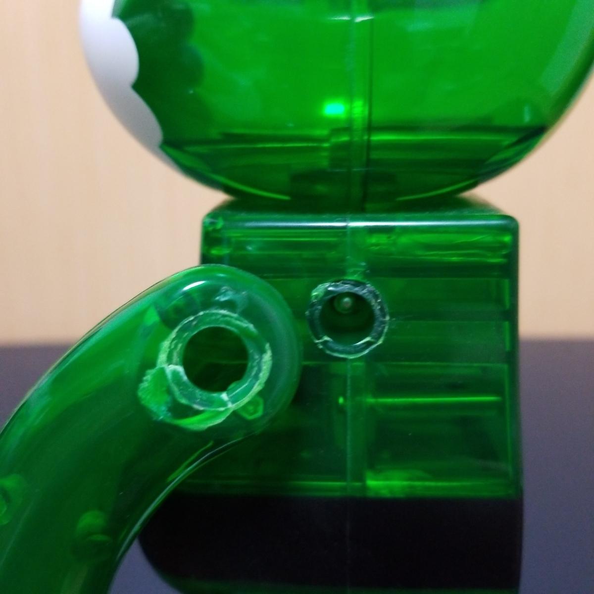 難有り BE@RBRICK GREEN SANTA 400% ベアブリック Merry Green Christmas charity campaign グリーン サンタ メディコムトイ_画像10