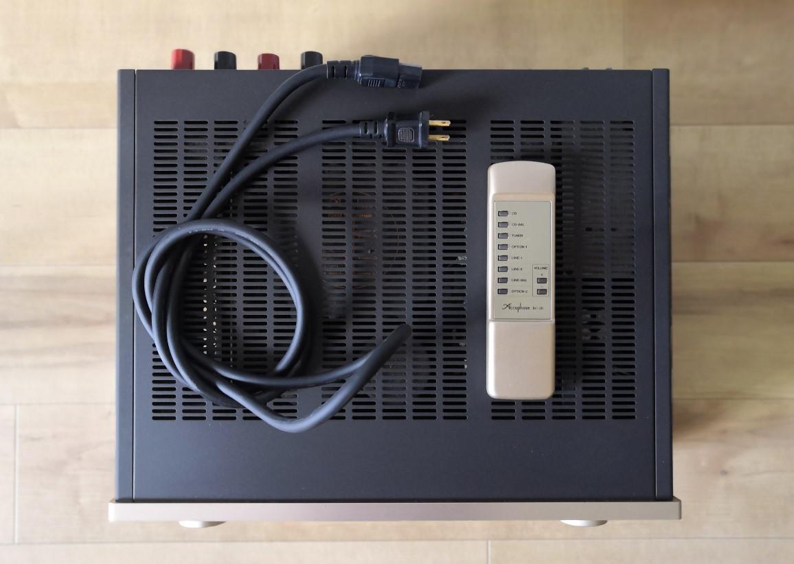 【美品】Accuphase E-407 ステレオ プリメインアンプ インテグレーテッドステレオアンプ アキュフェーズ E407オーディオ 音響_画像7