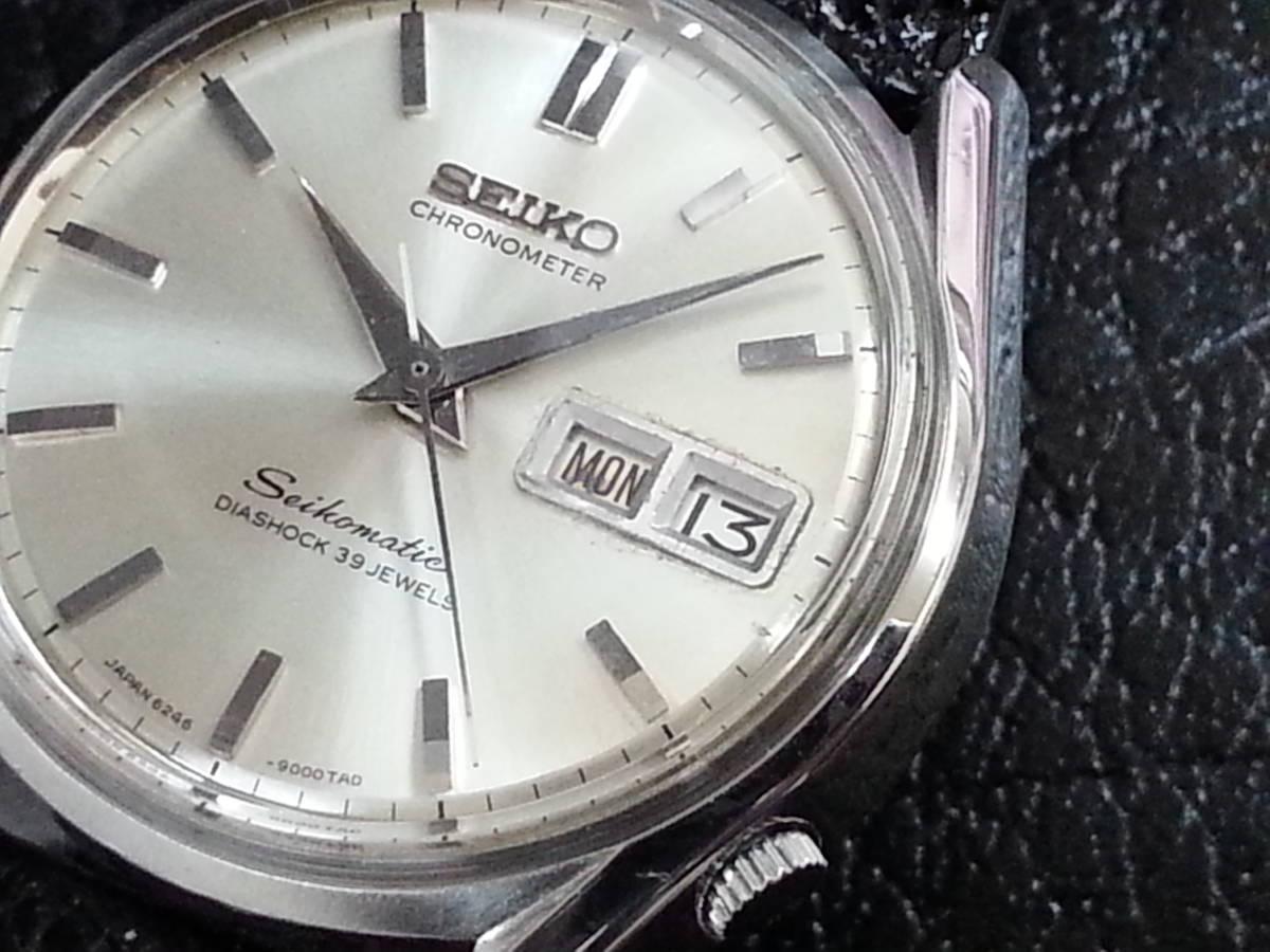 大野時計店 セイコー マチック クロノメーター 獅子メダル 6246-9000 自動巻 1966年3月製造 39石 希少_画像2