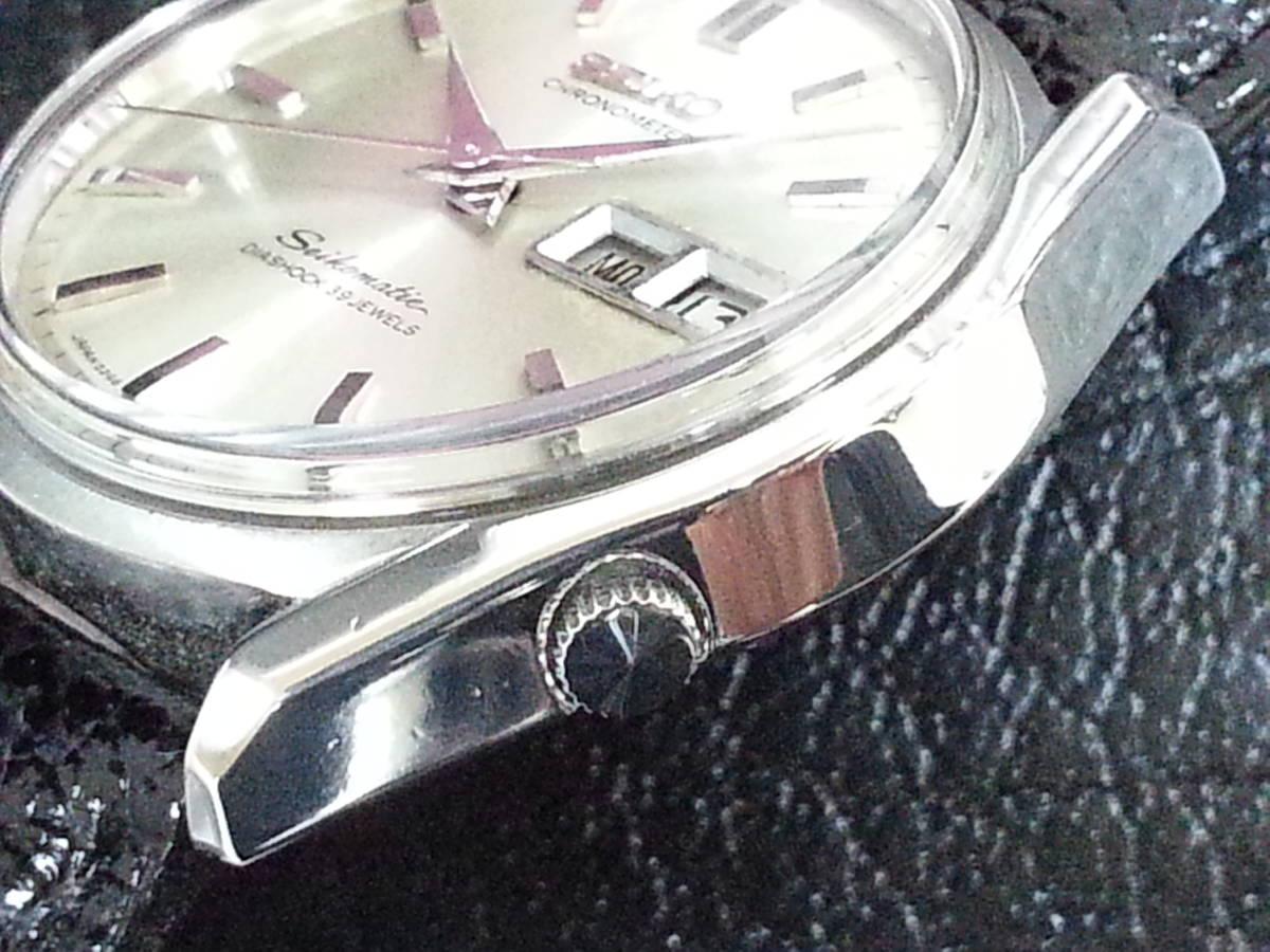 大野時計店 セイコー マチック クロノメーター 獅子メダル 6246-9000 自動巻 1966年3月製造 39石 希少_画像3