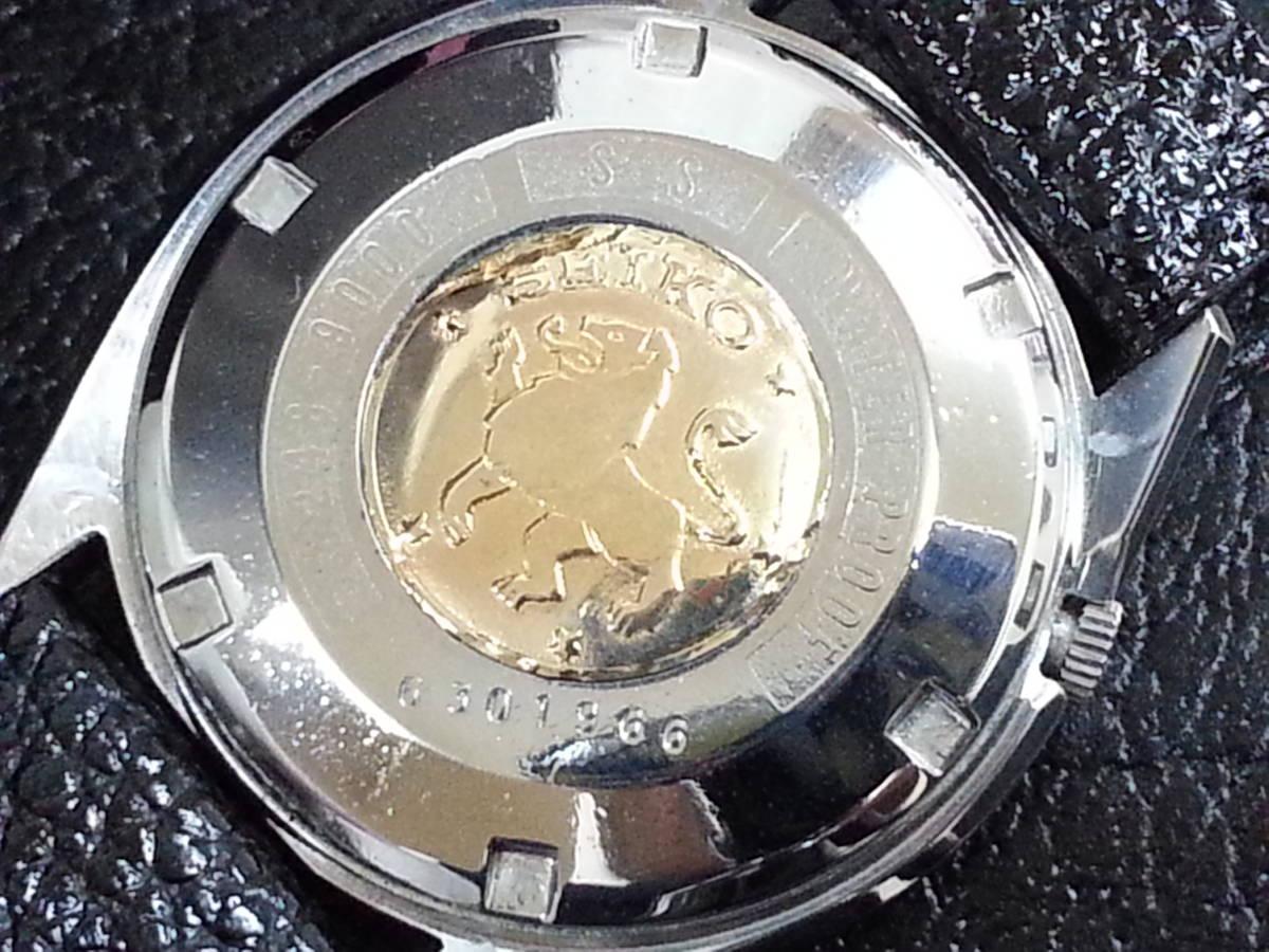 大野時計店 セイコー マチック クロノメーター 獅子メダル 6246-9000 自動巻 1966年3月製造 39石 希少_画像6